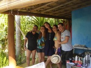 Valério Trabanco, Larissa (da Sawary), Cicarelli, Tina (produção) e Proença