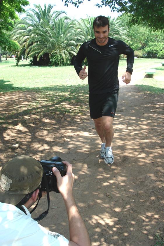 Gui Arruda correndo no Ibirapuera