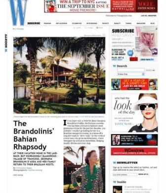 A W de Julho: Sig Bergamin como designer de Georgina