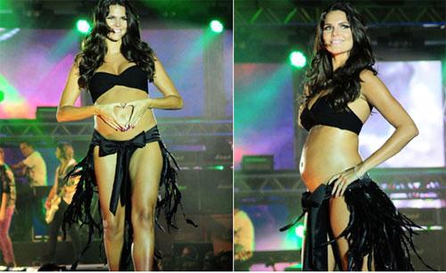 Dany Sarahyba exibe orgulhosa sua barriga aos 5 meses de gestação